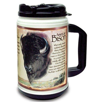 Ideaman American Expedition 24oz Plastic Thermal Mug Buffalo