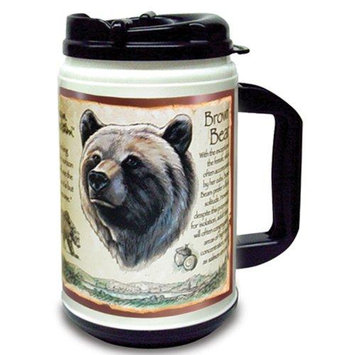 Ideaman American Expedition 24oz Plastic Thermal Mug Grizzly Bear