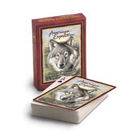 Ideaman American Expediton PCRD106 Gray Wolf Wildlife Playing Cards