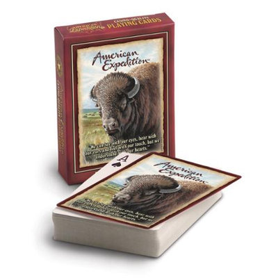 Ideaman American Expediton PCRD-107 American Bison Wildlife Playing Cards