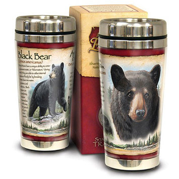 Ideaman American Expedition 16oz Stainless Steel Travel Mug Mountain Lion
