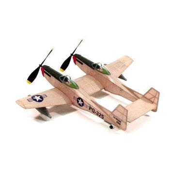 F-82 Twin Mustang,17.5Rubber Power DUM206 DUMAS