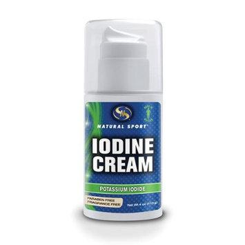 Iodine Cream (Unscented) Natural Sport 4 oz Cream