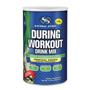 During Workout Drink Mix (Tropical Fusion) Natural Sport 1,078 g Powder