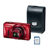 Canon PowerShot SX600 16MP HS Bundle with 18x Optical Zoom, Camera Case, and SD Card
