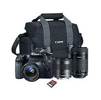 Canon EOS Rebel Camera Bundle with 18-55 STM Lens, 55-250 STM Lens, Camera Bag, and 32GB SD Card