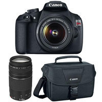 Canon - Eos Rebel T5 Dslr Camera With 18-55mm And 75-300mm Lenses - Black