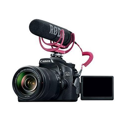 Canon EOS 70D Video Creator Kit with Lens, Rode VideoMic, and Sandisk 32GB SD Card