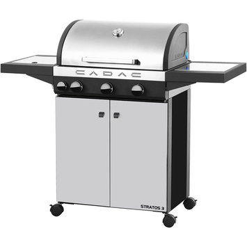 Cadac Grills Stratos 3-Burner Freestanding Propane Gas Grill in Stainless Steel with Side Burner 98700-33-01