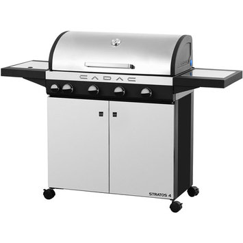 Cadac Grills Stratos 4-Burner Freestanding Propane Gas Grill in Stainless Steel with Side Burner 98700-43-01