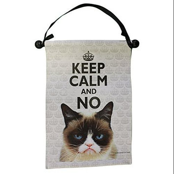 Grumpy Cat Keep Calm And NO Hanging Canvas Wall Decoration (8 by 12 inches) HGC13306 Ganz