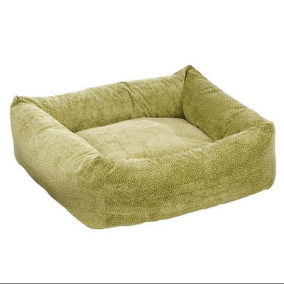 Bowsers Pet Products 9447 Small Microvelvet Dutchie Dog Bed Green Apple Bones