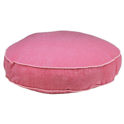 Bowsers Pet Products 9669 Round Bed Flamingo Bones pink