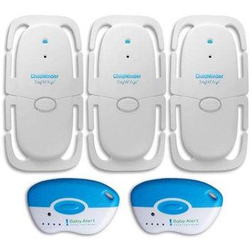 Baby Alert ChildMinder Multi-Child Smart Clip 3 Pack System 3 Clips 2 Remotes