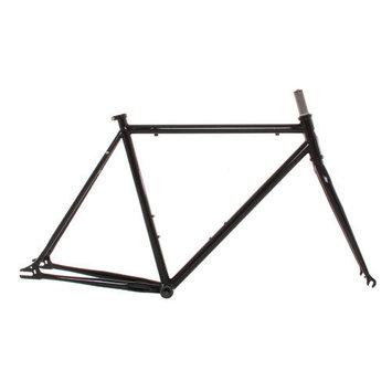 Vilano Chromoly Fixed Gear Frameset Track Road Bike Frame and Fork Green 50cm