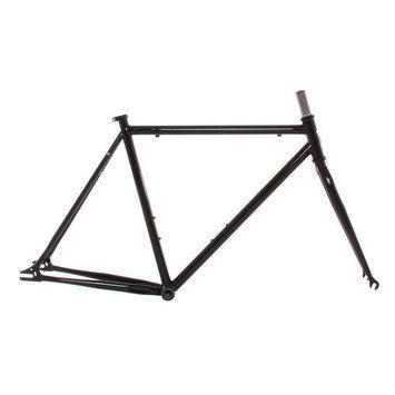 Vilano Chromoly Fixed Gear Frameset Track Road Bike Frame and Fork Green 58cm