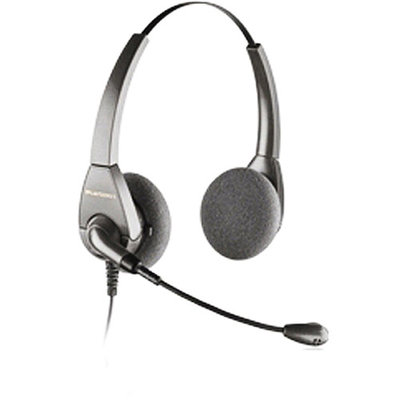 Plantronics Encore H101N - over-the-head biaural headset with noise-canceling boom mic - Avaya label