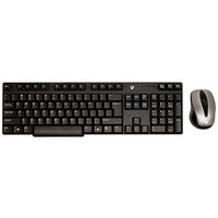 V7 Combo Wireless Keyboard, 2.4GHz Optical Mouse 1200dpi CK2A0-4N6P