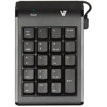 V7 KP0N1-7N0P Numeric Keypad - Wired - Black
