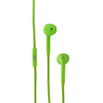 V7 HA130-GRN-21NC Green Earset - Stereo - Mini-phone - Wired - Earbud - Binaural - 3.90 ft Cable