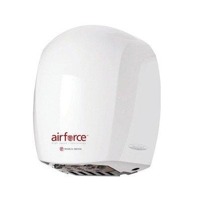 World Dryer Airforce Hi-Speed Hand Dryer Voltage: 110-120 V, Finish: Steel White
