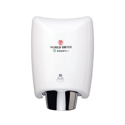 World Dryer SmartDri Multi-Port Nozzle Hand Dryer Finish: Aluminum White, Voltage: 208-240 V