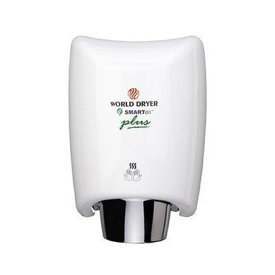 World Dryer SmartDri Plus Single-Port Nozzle Hand Dryer Finish: Aluminum White, Voltage: 208-240 V