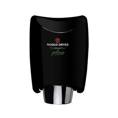 World Dryer SmartDri Plus Single-Port Nozzle Hand Dryer Finish: Aluminum Black, Voltage: 208-240 V