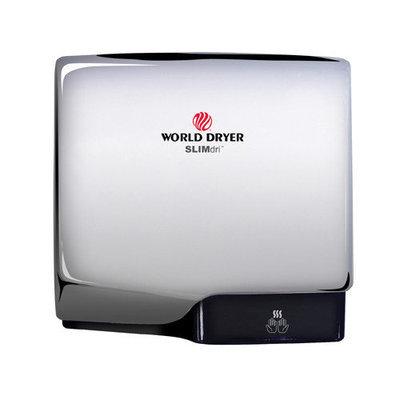 World Dryer Slimdri Surface Mount Hand Dryer Finish: Aluminum Polished Chrome