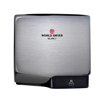 World Dryer Slimdri Surface Mount Hand Dryer Finish: Aluminum Brushed Chrome