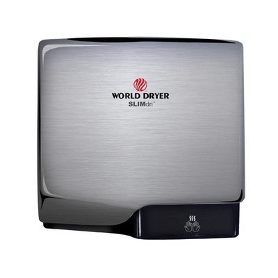 World Dryer Slimdri Surface Mount Hand Dryer Finish: Aluminum Brushed Chrome