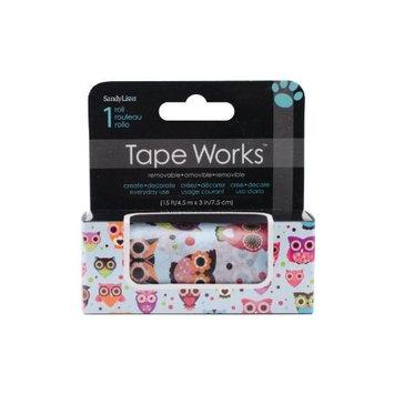 Sandy Lion Sandylion SCT2-118 Tape Works Accent Tape 3 in. X15ft-Colorful Owls