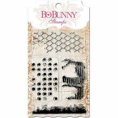 Bo Bunny Stamps-Flourishes & Such