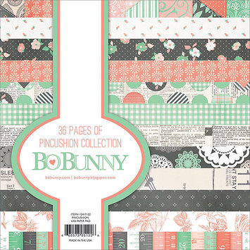 Bo Bunny 15417122 Pincushion Paper Pad 6 in. X6 in. 36-Sheets
