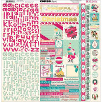 Bo Bunny 16503447 Candy Cane Lane Combo Stickers 12X12