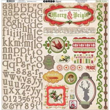 Bo Bunny 16603471 Christmas Collage Combo Stickers 12X12