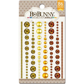 Bo Bunny DDJ-7522 Double Dot Jewels 86/Pkg-Citrus