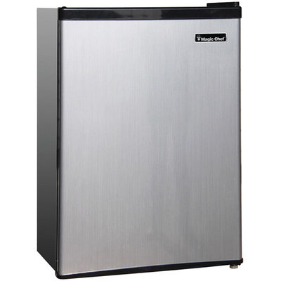 Magic Chef Compact Refrigerator 2.4 cu. ft. Mini Refrigerator in Stainless Look MCBR240S1