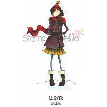 Stamping Bella Unmounted Rubber Stamp-Uptown Girl Quinn and Her Boots