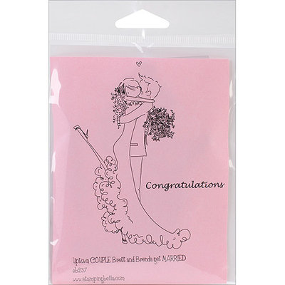 Stamping Bella Cling Rubber Stamp-Brett and Brenda Get Married