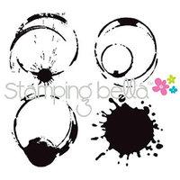 Stamping Bella Unmounted Rubber Stamp-Java Spills
