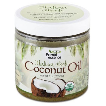 Primal Essence Organic Coconut Oil Italian Herb 8 oz