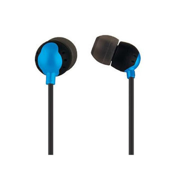 Monoprice 10154 Enhanced Bass Earphones with Built-in Microphone and Play And Pause Controls - Blue