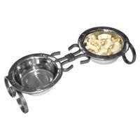 QT Dog Wrought Iron Classic Pet Diner Silver, 1 Quart