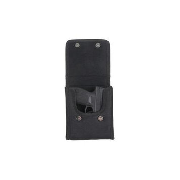 Bulldog Cases Black Nylon Vertical Phone Holster with Belt Loop-Clip - Sub Compact 380