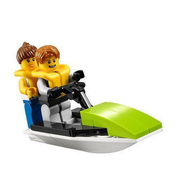 Golden Classic LEGO 30015 City Mini Figure Set Jet Ski Bagged