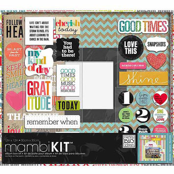 Me & My Big Ideas Boxed Album Kit 12 X12 -Our Adventure