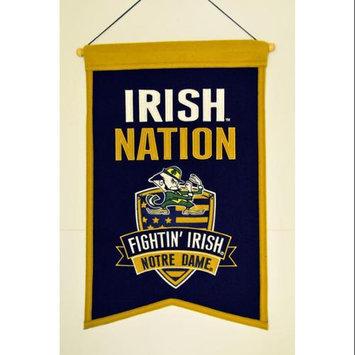 Brookstone Winning Streak Sports Nations Notre Dame Banner, Navy/Gold