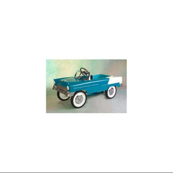 C & N Reproductions 55 Classic Convertible Pedal Car: Aqua and White 55A