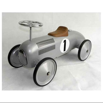 C & N Reproductions Speedster Racer Car in Silver Tone Finish